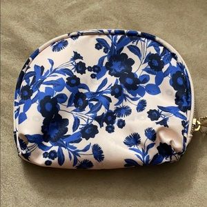 Floral blue and pink Sonia kashuk cosmetic pouch
